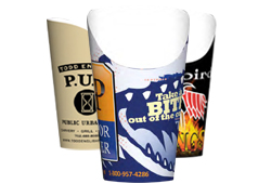 Custom Printed Fry Scoop Cups
