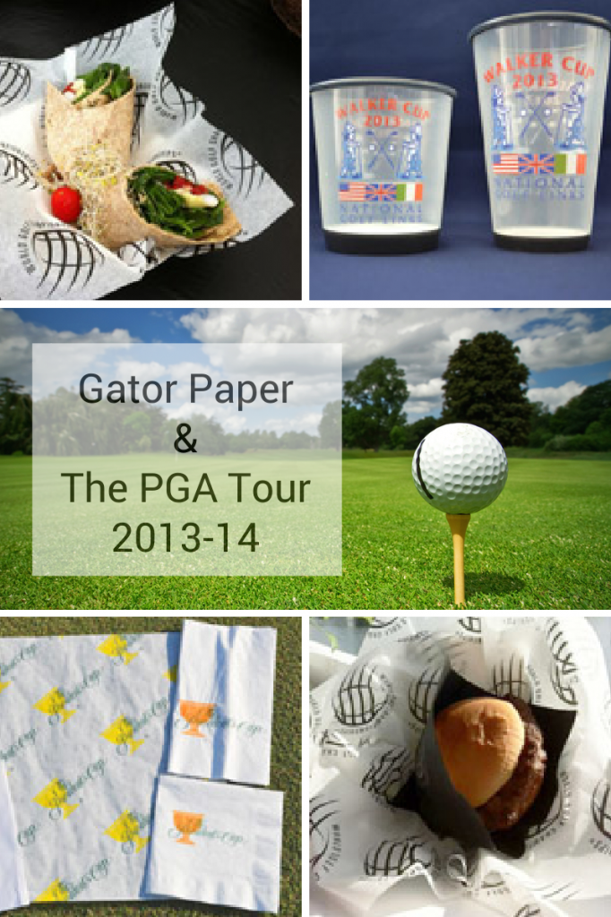 Gator Paper serves the PGA Tour with custom printed food service products
