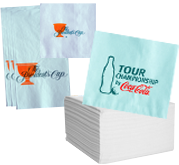 Custom paper service napkins with logo