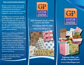 Gator Paper Brochure – Custom Printed Food Packaging Products