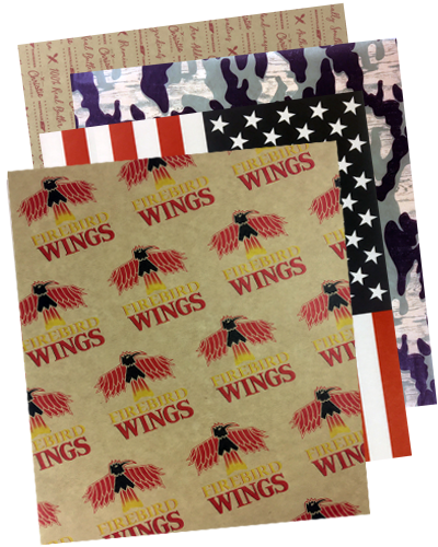 custom printed greaseproof paper